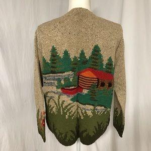 Vintage David Brooks Scenic Cardigan Sweater M